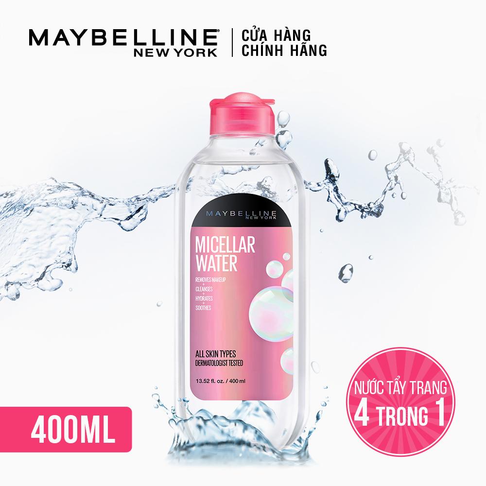 Nước Tẩy Trang Micellar Dưỡng Da Không Cồn 4 Trong 1 Maybelline New York Micellar Water 4-in-1 400ml