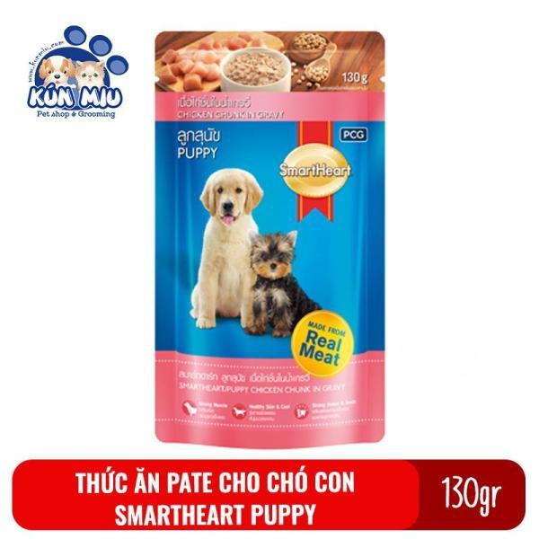Thức Ăn Pate Cho Chó Con Vị Gà Smartheart Puppy 130Gr