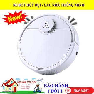 Robot Hút Bụi Lau Nhà Tự Động-Robot Hút Bụi Lau Nhà Thông Minh-Robot Hut Bui ES300. 1 Nút chạm cảm ứng, Thiết Kế Lau dọn thông minh, Làm Sạch Các Vị Trí Khó Gầm Giường,Tủ,Gầm Ghế Sofa, Vận hàng êm ái, Độ Ồn Thấp - BẢO HÀNH 1 ĐỔI 1- MUA NGAY thumbnail