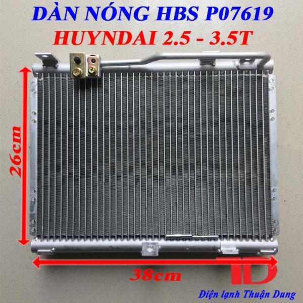 Dàn nóng HBS P07619 HUYNDAI 2.5 - 3.5T