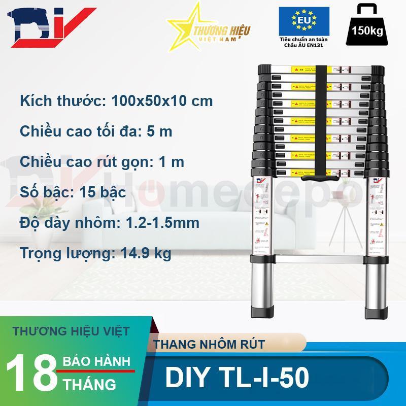 Thang nhôm rút đơn 5m DIY TL-I-50