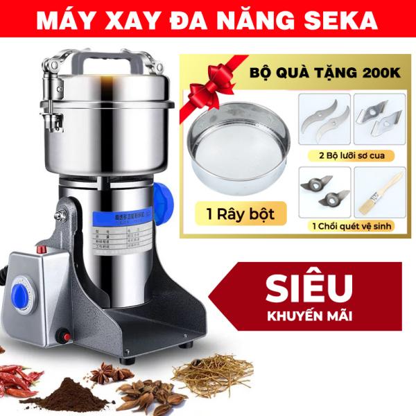 [HÀNG CHÍNH HÃNG] Máy xay xương SEKA -  Inox 304 cao cấp - Công suất 2980W - Xay bột - Nghiền thực phẩm