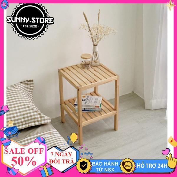 Kệ gỗ đầu giường, kệ đầu giường, Tủ tab đầu giường, Táp đầu giường, Kệ để giày gỗ, Chất liệu bằng gỗ MDF chắc chắn Kích thước 35x35x50 cm