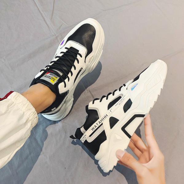 Giày thể thao sneaker nam WATAHH phản quang trong đêm phối màu siêu đẹp - kiểu dáng trẻ trung năng động giá rẻ