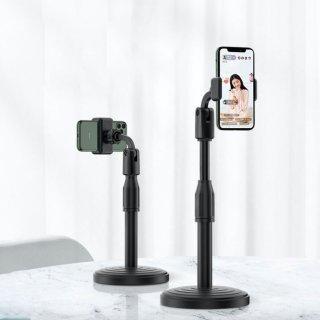 Giá đỡ điện thoại DOZA dành cho livestream xoay 360 độ mọi góc nhìn, có thể điều chỉnh độ cao, phần đế dày và nặng rất vững chắc, giá kẹp chống trượt chống trầy thumbnail