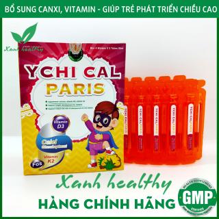 YCHI CAL-PARIS Siro bổ sung canxi tăng chiều cao cho bé - Bổ sung canxi, vitamin D3, Vitamin K2 giúp phát triển xương, tăng chiều cao - Hộp 20 ống 10ml - Hàng chính hãng thumbnail