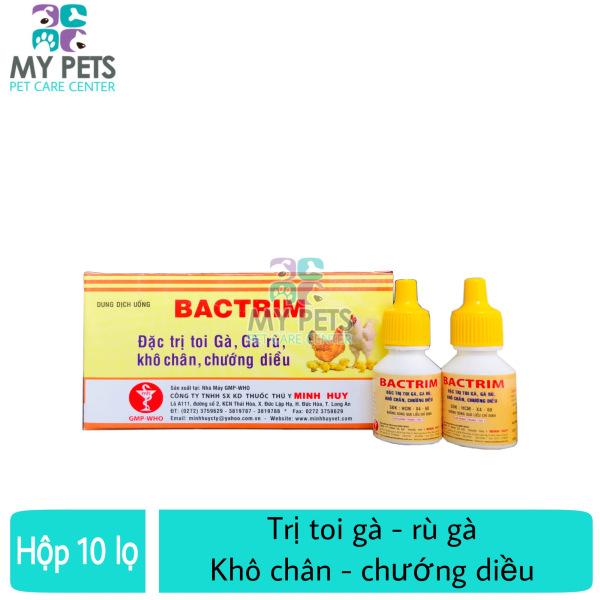 [HCM]Thuốc uống trị toi rù gà khô chân chướng diều - Bactrim hộp 10 lọ
