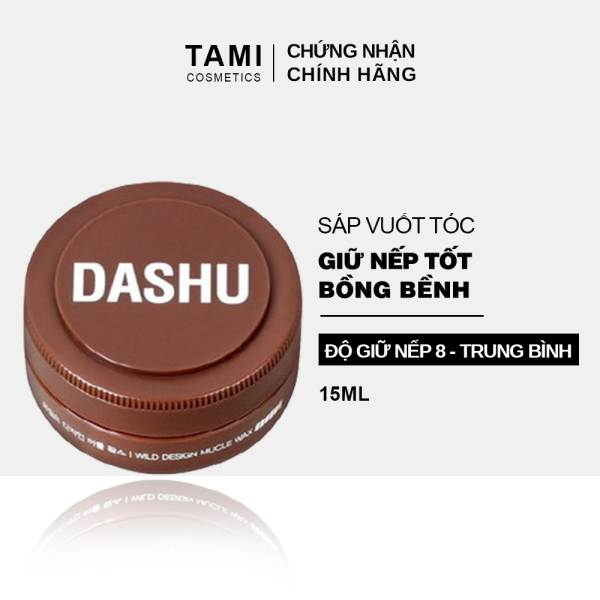 Sáp vuốt tóc DASHU For Men Wild Design Mucle Wax Giữ nếp tốt Không gây bết dính Độ bóng tự nhiên TM-SAP05 nhập khẩu