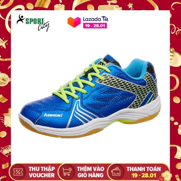 Giày chơi cầu lông nam nữ Kawasaki K071 màu xanh, hàng có sẵn , đế kếp, bảo hành toàn quốc - Giày đánh bóng chuyền nam nữ - Giày thể thao nam nữ giá rẻ