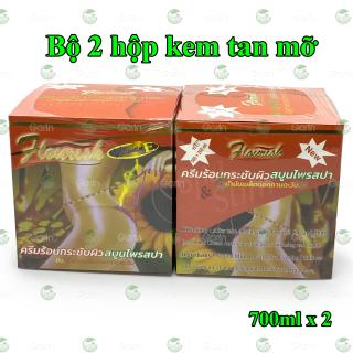 Bộ 2 hộp kem tan mỡ bụng gừng ớt Flourish Thái Lan (700ml x 2) giúp đánh tan mỡ hiệu quả, làm săn chắc vùng bụng, hông, eo, mông và đùi, cho dáng vóc luôn gọn gàng hơn thumbnail