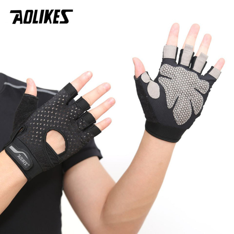 Bảng giá Bộ đôi găng tay nửa ngón tập thể dục thể thao Aolikes AL113