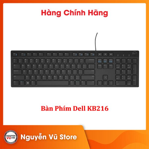 Bàn Phím Có Dây Dell KB216 - Cổng USB - Hàng Chính Hãng