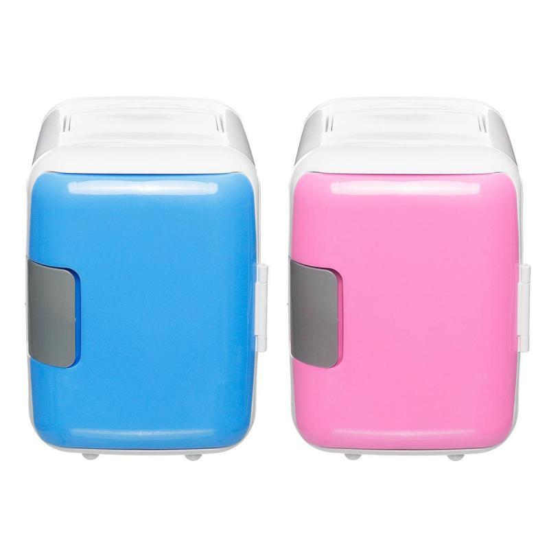 Tủ lạnh mini 2 chiều-Tủ lạnh 4L-Tủ lạnh Tủ đông - Màu xanh da trời
