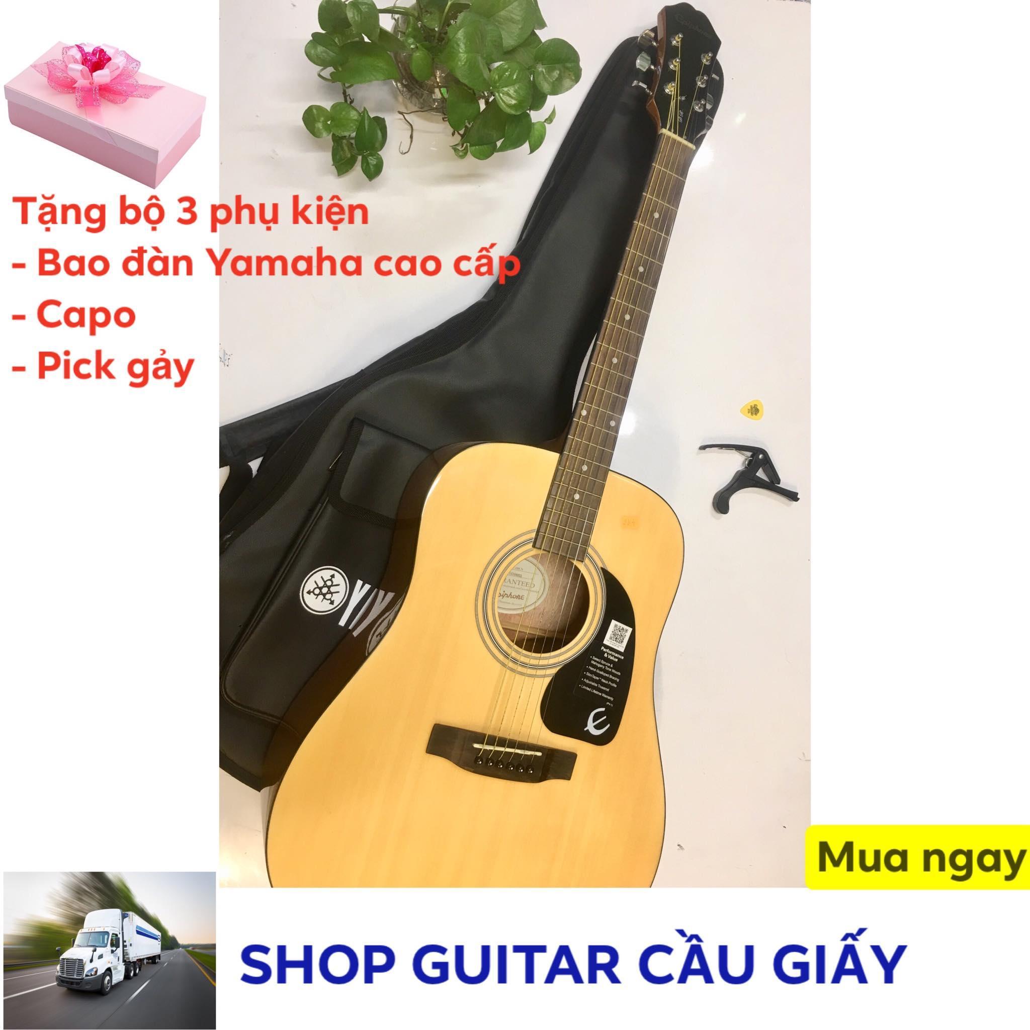 Đàn guitar Acoustic Epiphone DR-100 + tặng kèm bao da Yamaha, capo, pick gảy