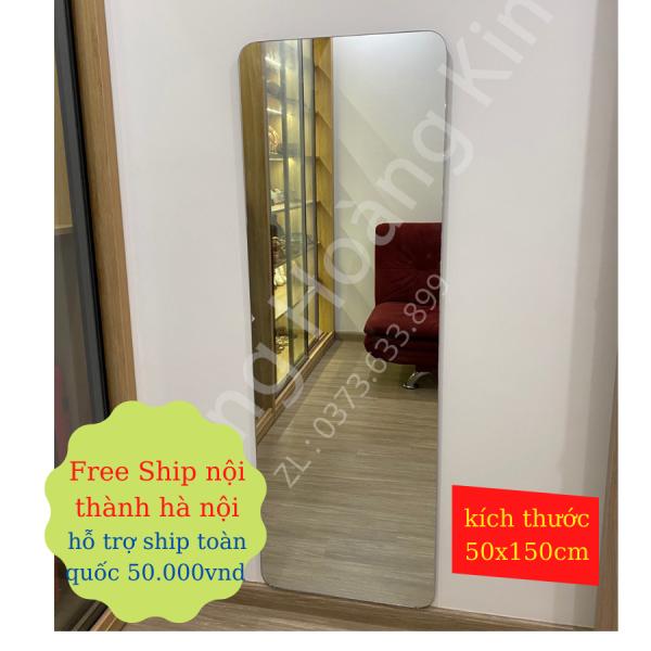 Gương soi toàn thân hoàng kim kích thước 50x150cm bo viền sang trọng kiểu dáng hàn dán hoặc treo tường cao cấp-guonghoangkim miror