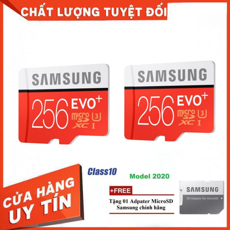 Combo 2 Thẻ nhớ MicroSD Samsung EVO Plus 4K 256GB 100MB/s 256GB Box Anh 2020 - Hàng Chính Hãng