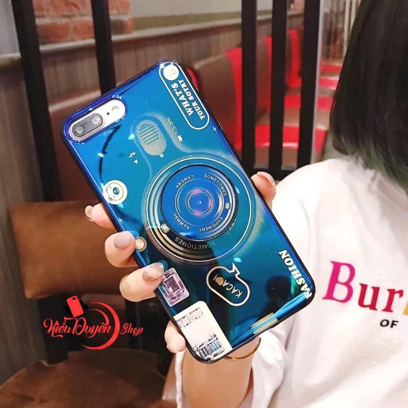 Ốp lưng hình máy ảnh Iphone 6,6s,6 Plus,6s Plus,7,8,7 Plus,8 Plus,Iphone X,XS,XR,XS Max,tặng kèm giá đỡ và dây đeo