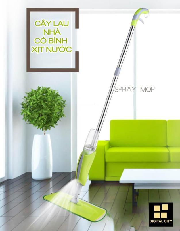 Cây lau nhà kèm bình xịt nước thông minh Healthy Spray Mop - Thiết kế cao cấp.