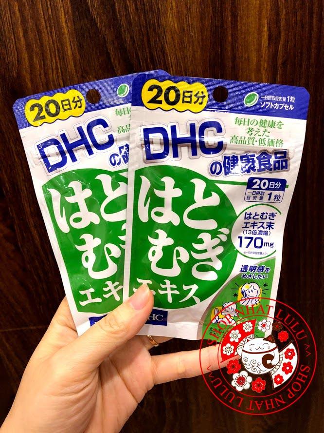 Voucher Giảm Giá Viên Uống DHC Trắng Da Coix Nhật Bản 20 Ngày