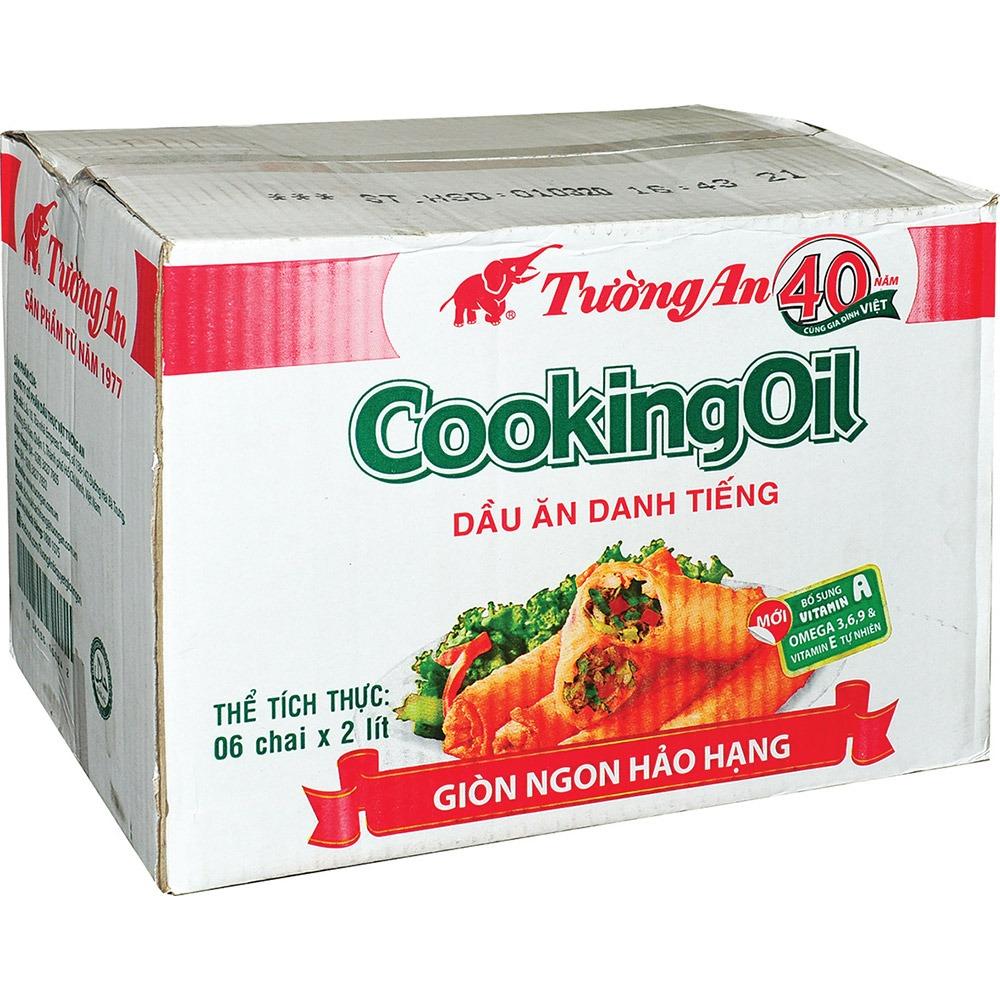 Dầu ăn Tường An Cooking oil thùng 6 chai x 2L