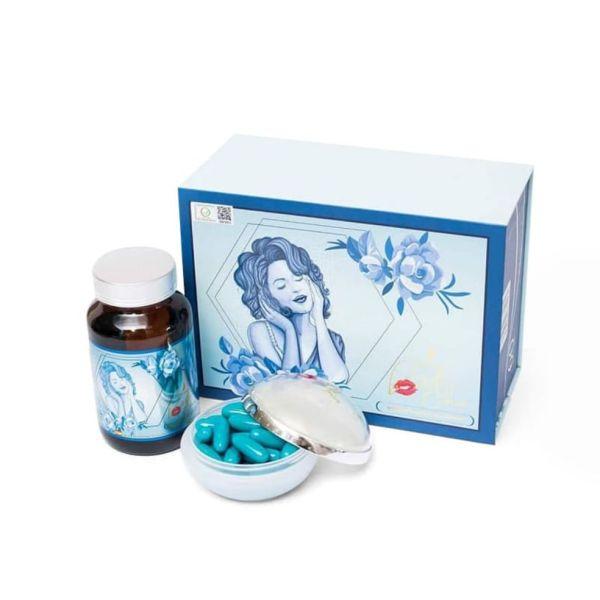 VIÊN TRĂNG DA BEAUTY PLUS 60v +gel rửa tay khô +son dưỡng