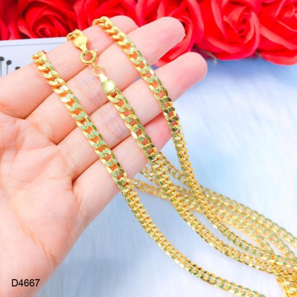 Dây chuyền, dây đeo cổ , dây chuyền nam, dây chuyền nữ phen lật bền màu thiết kế cao cấp Orin D4667