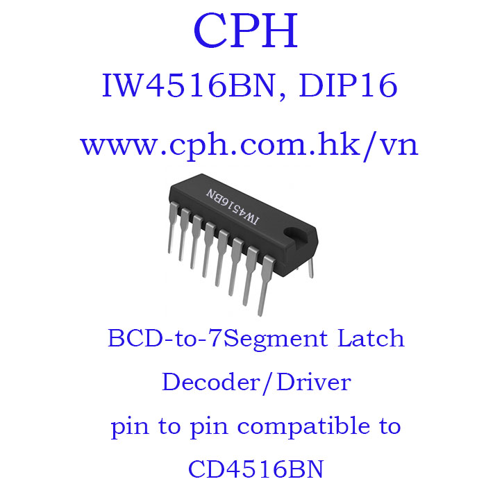 Giá 5pcs IW4516BN CD4516BN IW4516 CD4516 DIP16 IKSemicon Presettable Binary Up/Down Counter