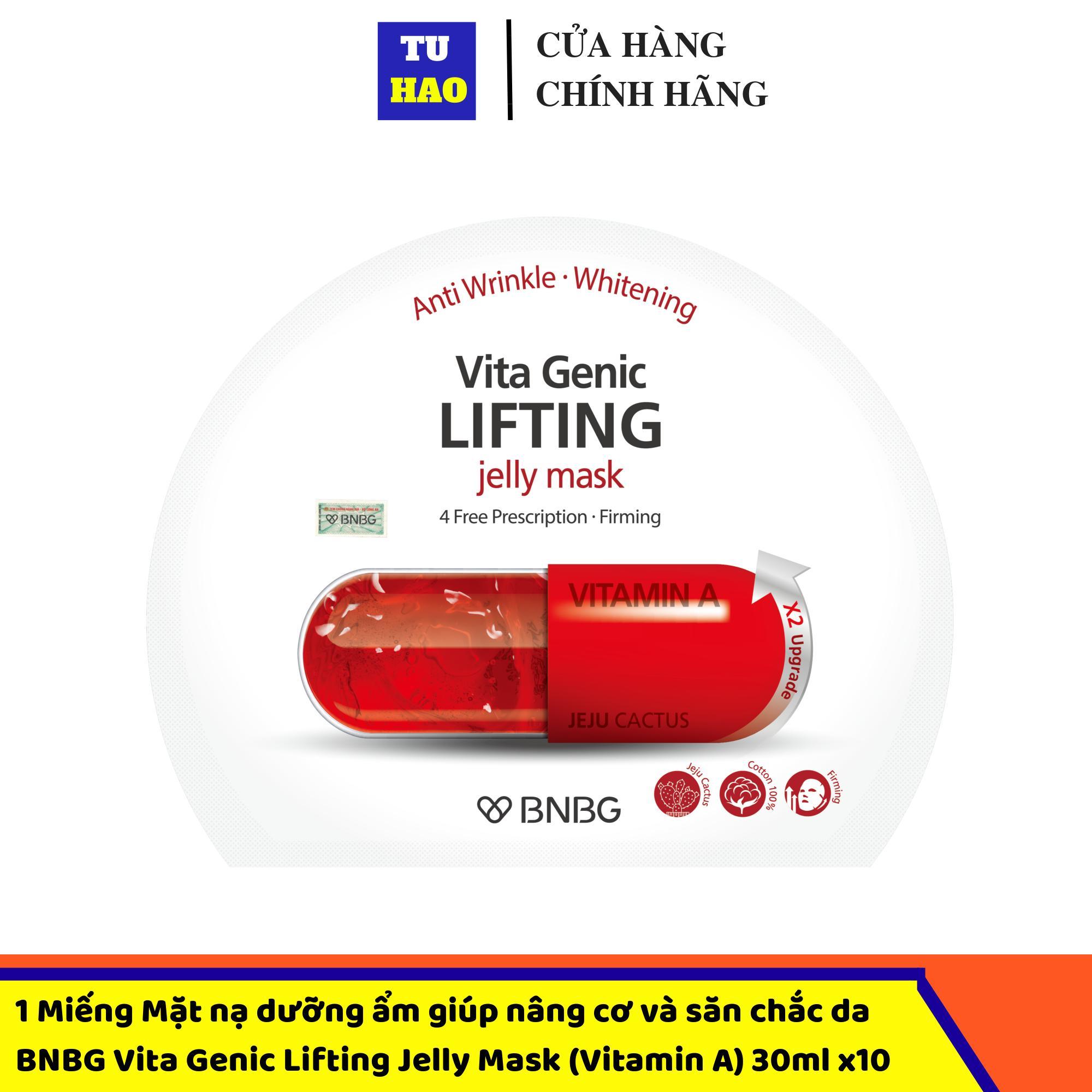 1 Miếng Mặt nạ dưỡng ẩm giúp nâng cơ và săn chắc da BNBG Vita Genic Lifting Jelly Mask (Vitamin A) 30mlx10 cao cấp