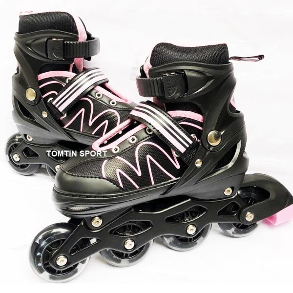 Giá bán [MẪU MỚI] Giày trượt patin trẻ em 8 bánh phát sáng tặng kèm bảo hộ chân tay