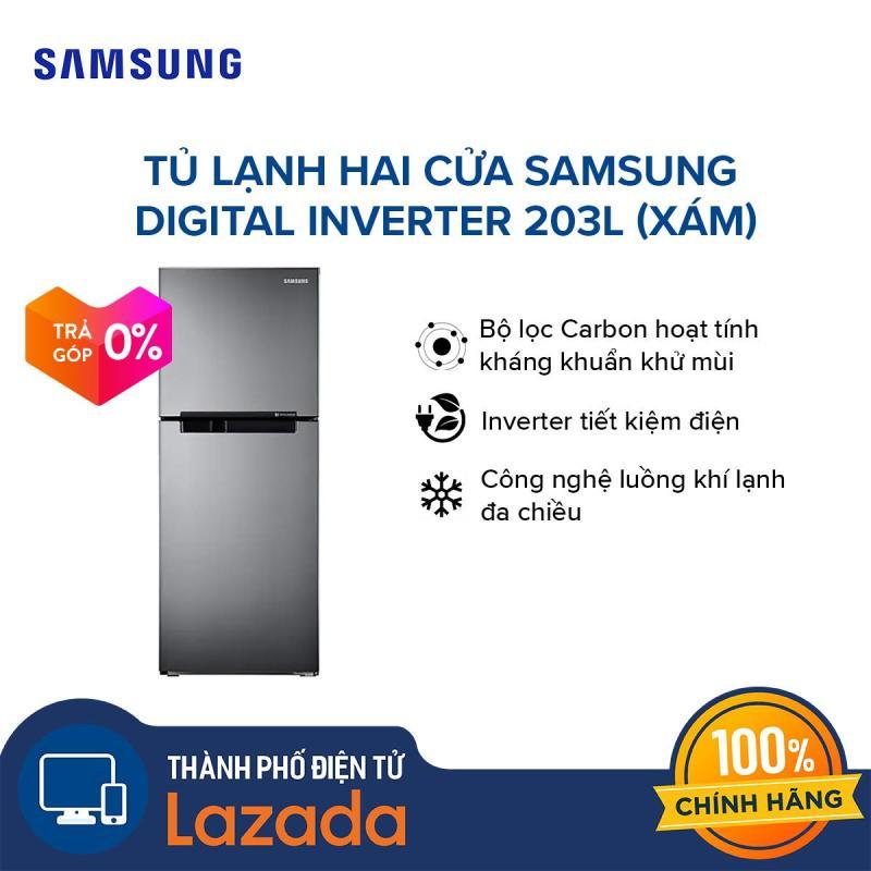 [Trả góp 0%, đến 12 tháng] Tủ lạnh hai cửa Samsung RT19M300BGS/SV Digital Inverter 203L (Xám) - Hãng phân phối chính thức, tiết kiệm điện