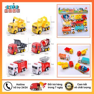 Xe đồ chơi bộ 6 xe xây dựng giá rẻ thumbnail
