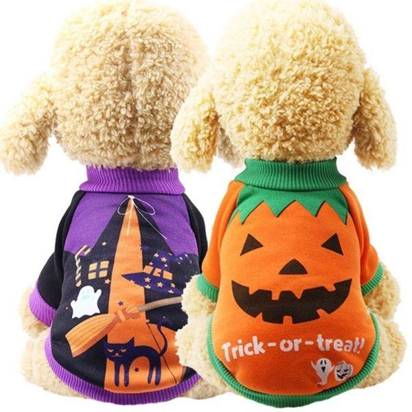 HUXIAN0 Mùa đông Buồn cười Đồ dùng cho thú cưng Quần áo cho thú cưng Trang phục bí ngô cho chó Áo lông chó Quần áo cho chó Trang phục Halloween Trang phục cho chó