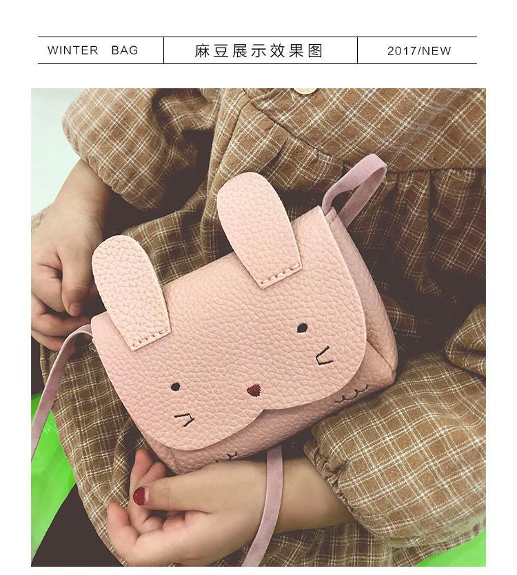 Túi đeo chéo mini phụ kiện hình thỏ cho bé gái dễ thương (Màu hồng)