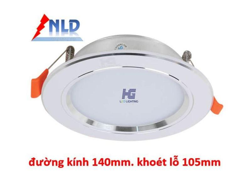 Đèn led âm trần viền bạc 9W - 3 màu 3 chế độ