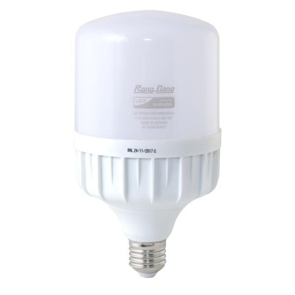 Bảng giá Bóng đèn LED BULB Trụ RẠNG ĐÔNG 30W, 40W, 50W