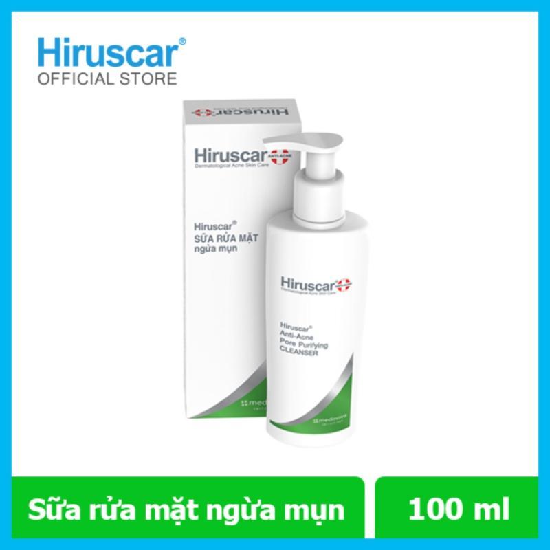 Sữa rửa mặt ngừa mụn Hiruscar Anti-Acen Pore Purifying Cleanser 100ml nhập khẩu