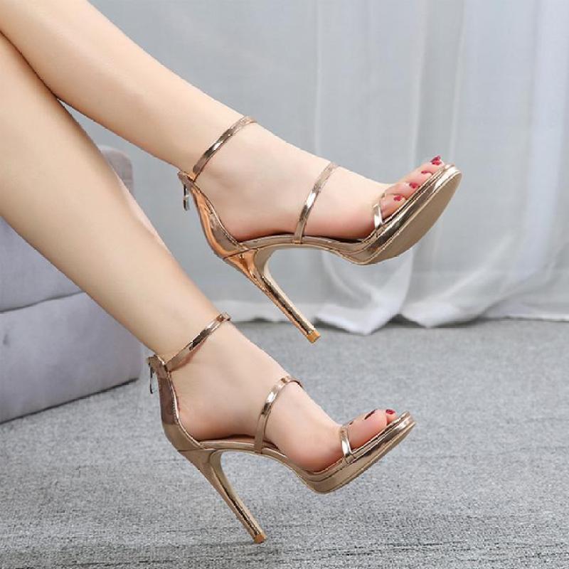 Giày Cao Gót Nữ Quai Mảnh Da Bóng Gót 7cm Thời Trang giá rẻ