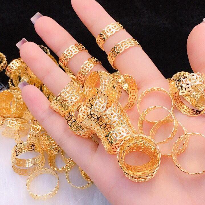 Nhẫn Nữ Vàng 18k Gadoshop VN28031910 Thời Trang Nữ - Đeo Đi Tiệc Đi Chơi Làm Công Sở Cực Sang Chảnh Và Quý Phái Nhật Bản