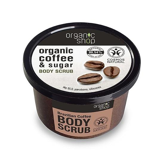 Tẩy da chết body cafe organic