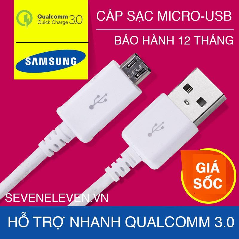 Dây cáp sạc samsung Micro USB sạc nhanh Qualcomm 3.0/ dây sạc Samsung , OPPO , LG , Xiaomi , Sony , Vivo , ....