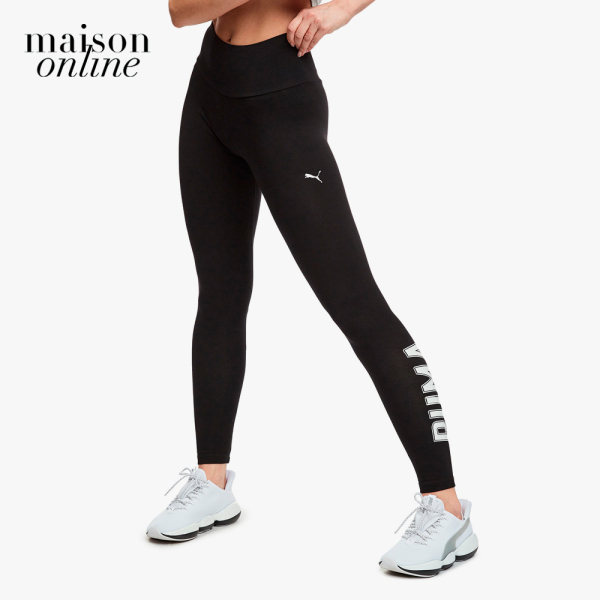 Quần ôm PUMA Athletics Logo Leggings Cotton Black