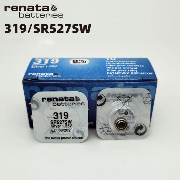Pin đồng hồ Thụy Sỹ RENATA 319 / SR527SW silver bạc Made in Swiss (Loại tốt - Giá 1 viên)