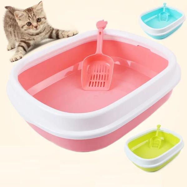 Khay đựng cát vệ sinh cho chó, mèo, có nắp dễ vệ sinh, sạch sẽ, 40*29*13,5 cm