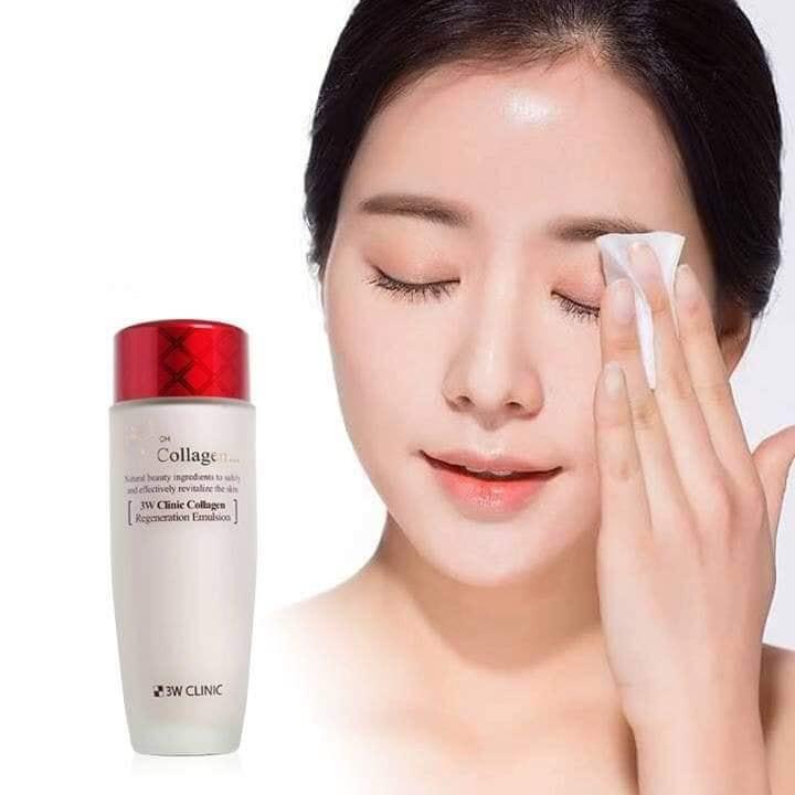 Nước hoa hồng dưỡng da săn chắc chống lão hóa Collagen 3W CLINIC cao cấp