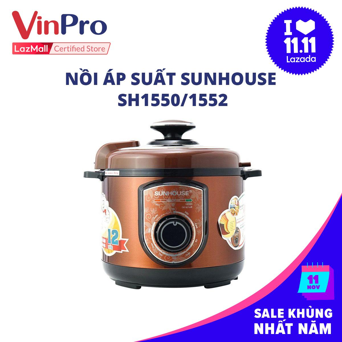 Nồi áp suất Sunhouse SH1550/1552