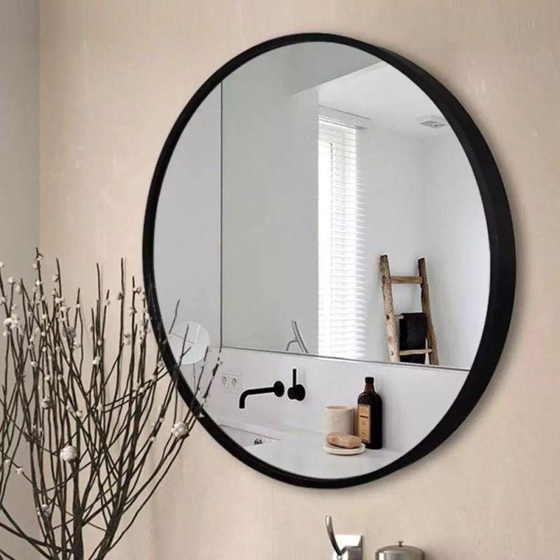 Gương tròn treo tường phòng tắm SMHome GTT01 (khung đen) đường kính 600 mm