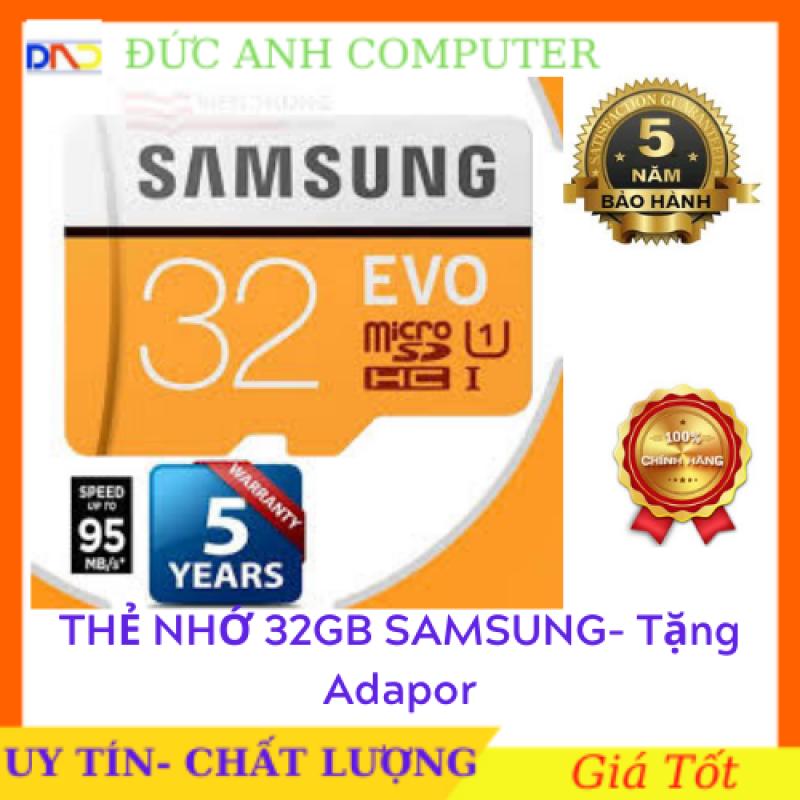 [Nhập NEWSELLERW503 giảm 10% tối đa 100K] Thẻ nhớ Sam Sung EVO Class10 32GB  80MB/S - Cam kết hàng chất lượng !