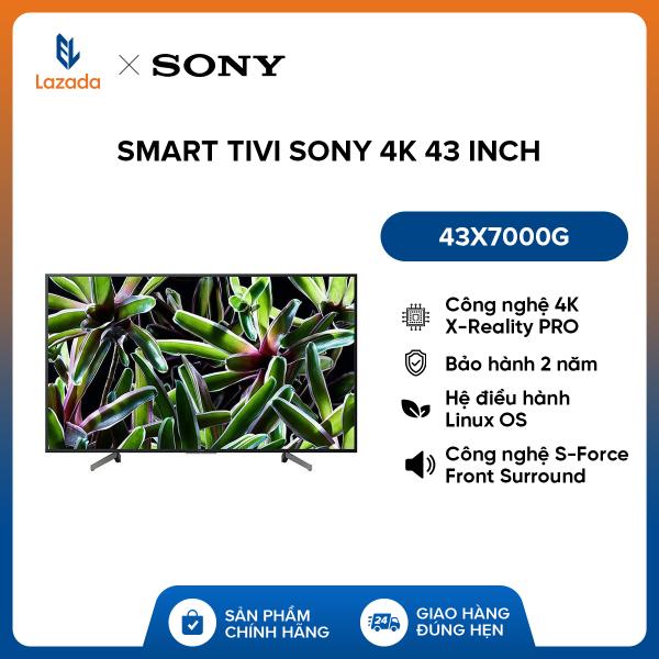 Bảng giá Smart Tivi Sony 4K 43 inch 43X7000G - Hàng Phân Phối Chính Hãng, Hệ điều hành Linux OS - Nâng cao chất lượng hình ảnh lên gần chuẩn 4K nhờ công nghệ 4K X-Reality PRO - Âm thanh lôi cuốn với công nghệ S-Force Front Surround - Bảo hành 2 năm