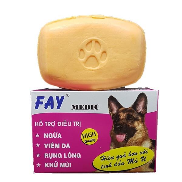 [HCM]Xà Bông Tắm Cho Chó Mèo Fay  Medic 100gr  Hỗ Trợ Viêm Da Rụng Lông