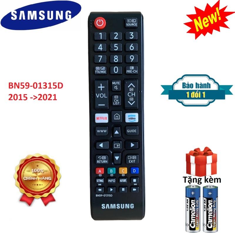 Điều khiển tivi Samsung ngắn các dòng từ 2015 ->2021 Chính hãng 100% - [ Tặng kèm pin, BH đổi mới ] chính hãng